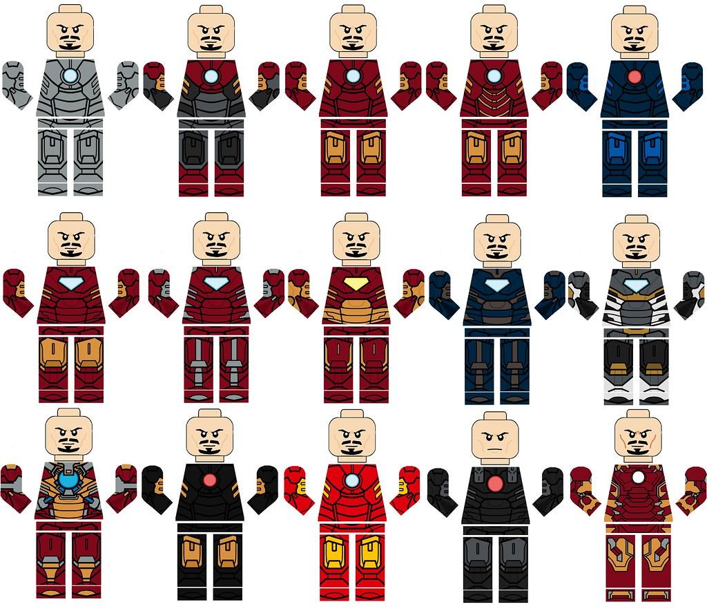 Lego Iron Man Hall Of Armor Movie Decals