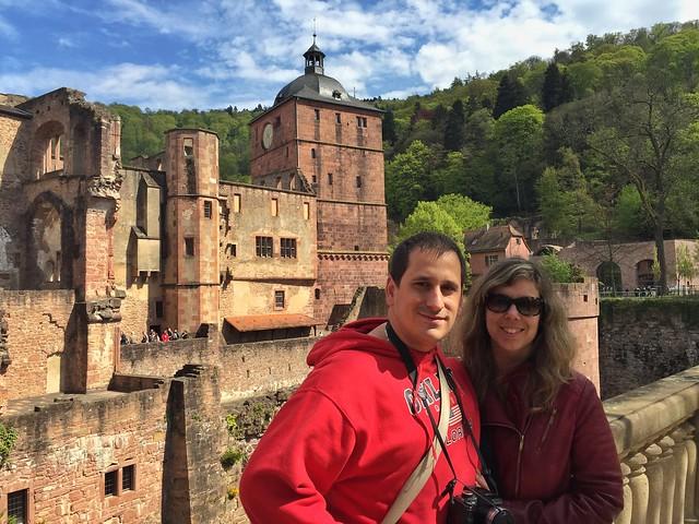 Sele y Rebeca en el castillo de Heidelberg (Alemania)