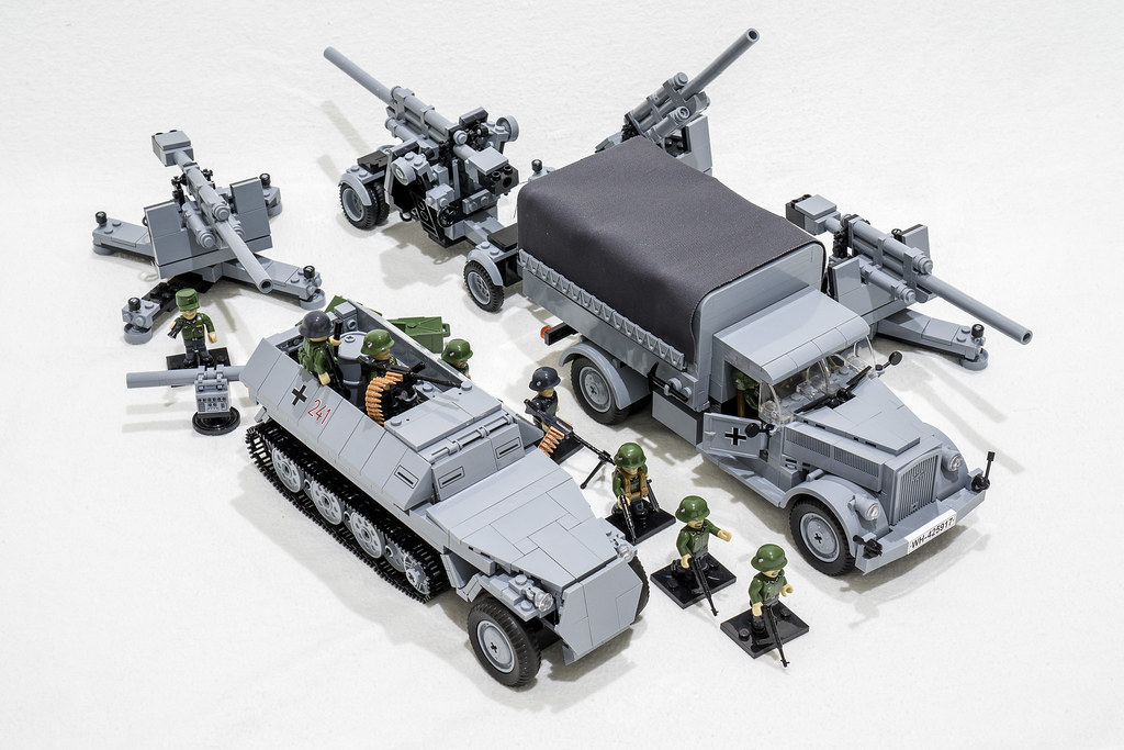 COBI Opel Blitz and Flak 88 | A small diorama with the COBI ...