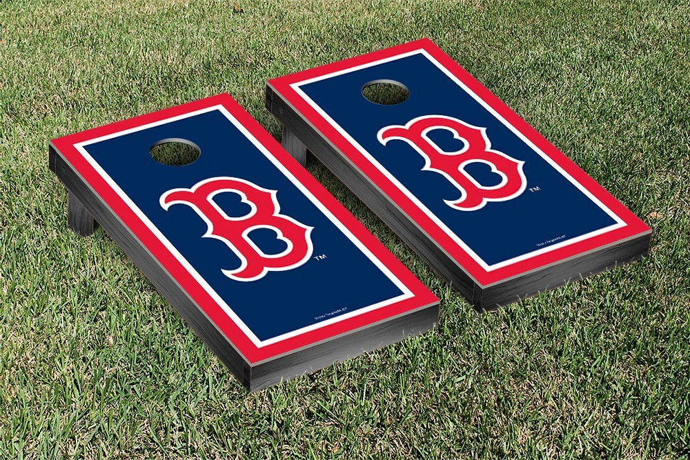 Boston Red Sox Border Version Cornhole Board
