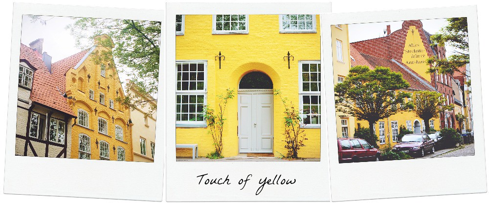 Yellow all over in Lubeck (Germany) | via It's Travel O'Clock