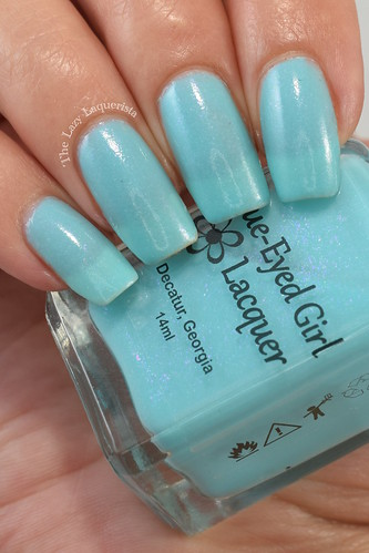 Blue-Eyed Girl Lacquer Three Years and Steal Going Swatch
