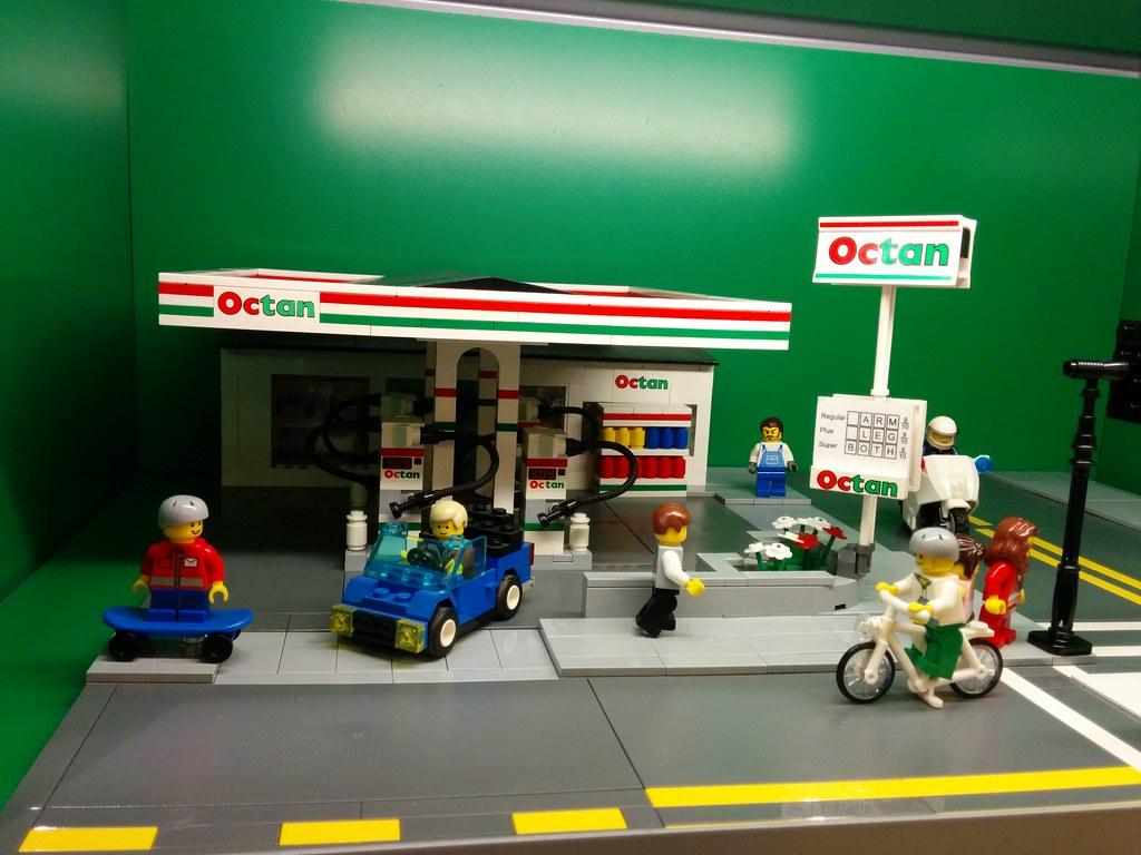 Octan Station at Stoneridge LEGO Store 2   Octan gas ...