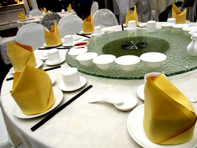 Table setting, Hornbill Restaurant, Sarawak Club