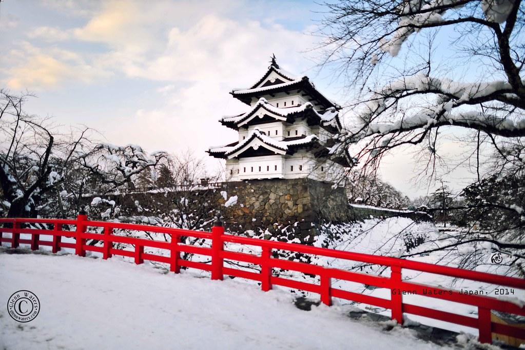 hirosaki castle winter 2014 glenn e waters japan 2014. Black Bedroom Furniture Sets. Home Design Ideas