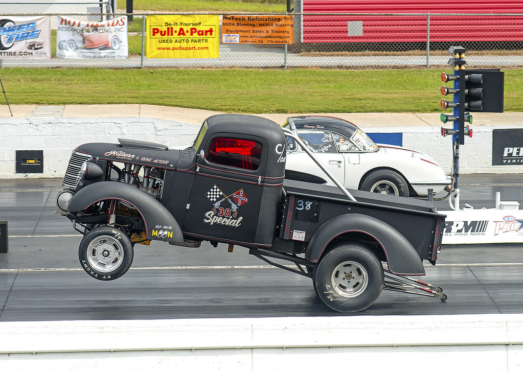 the 38 special 1938 chevy pickup gasser on the wheelie b flickr. Black Bedroom Furniture Sets. Home Design Ideas