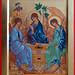 2014 Icône de la Sainte Trinité - The Holy Trinity Icon - Main de - Hand of Nylda Aktouf