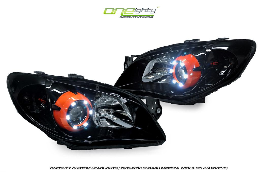 2005-06 Subaru Impreza WRX STi Custom Headlights | Hawkeye ...