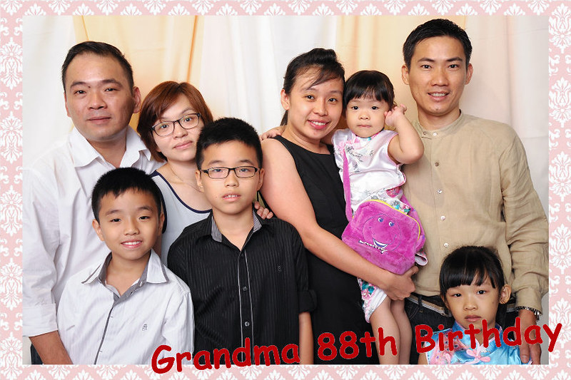 Grandmother Birthday Party Photo Booth Malaysia