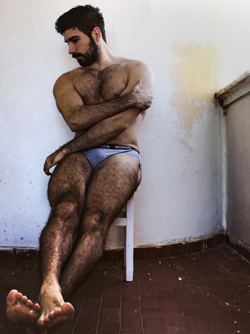Men legs young hairy