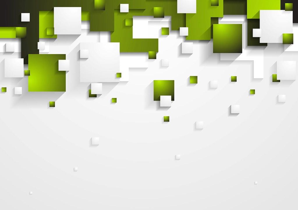 Tech vector shapes design | Abstract green and grey vector ...