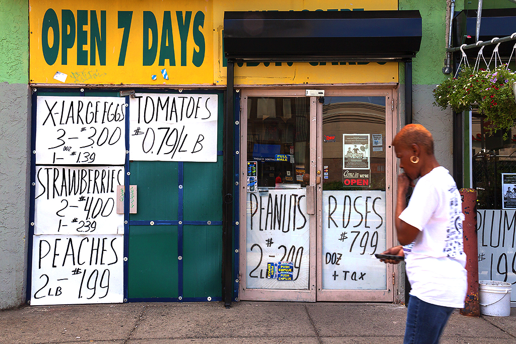 Store with large hand-written signs--Kensington