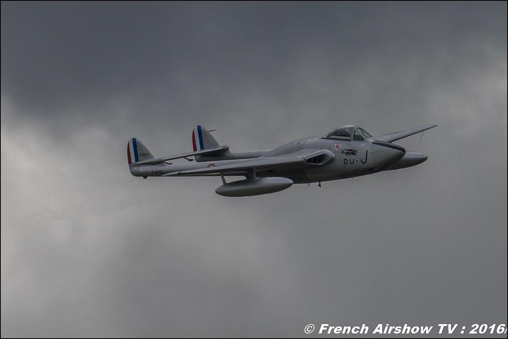 De Havilland Vampire FB.6 - F-AZOO , du J ,Meeting de l'air BA-702 Avord , Meeting Aerien Avord 2016 , FOSA , Armée de l'air , Canon Reflex , EOS System