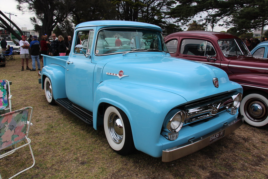 1956 Ford F 100 Standard Cab Pickup Diamond Blue Ford