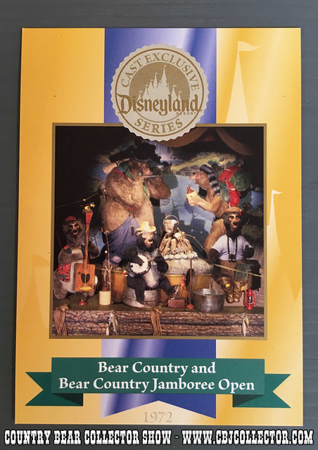 2005 Disneyland 50th Anniversary Trading Card 1972 - Country Bear Jamboree Collector Show #057