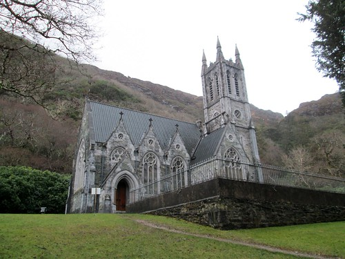 Kylemore Abbey Gothic Cathedral Exterior View 3