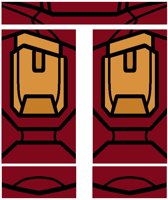 lego iron man mark 4 legs decal | pivote1342 | Flickr