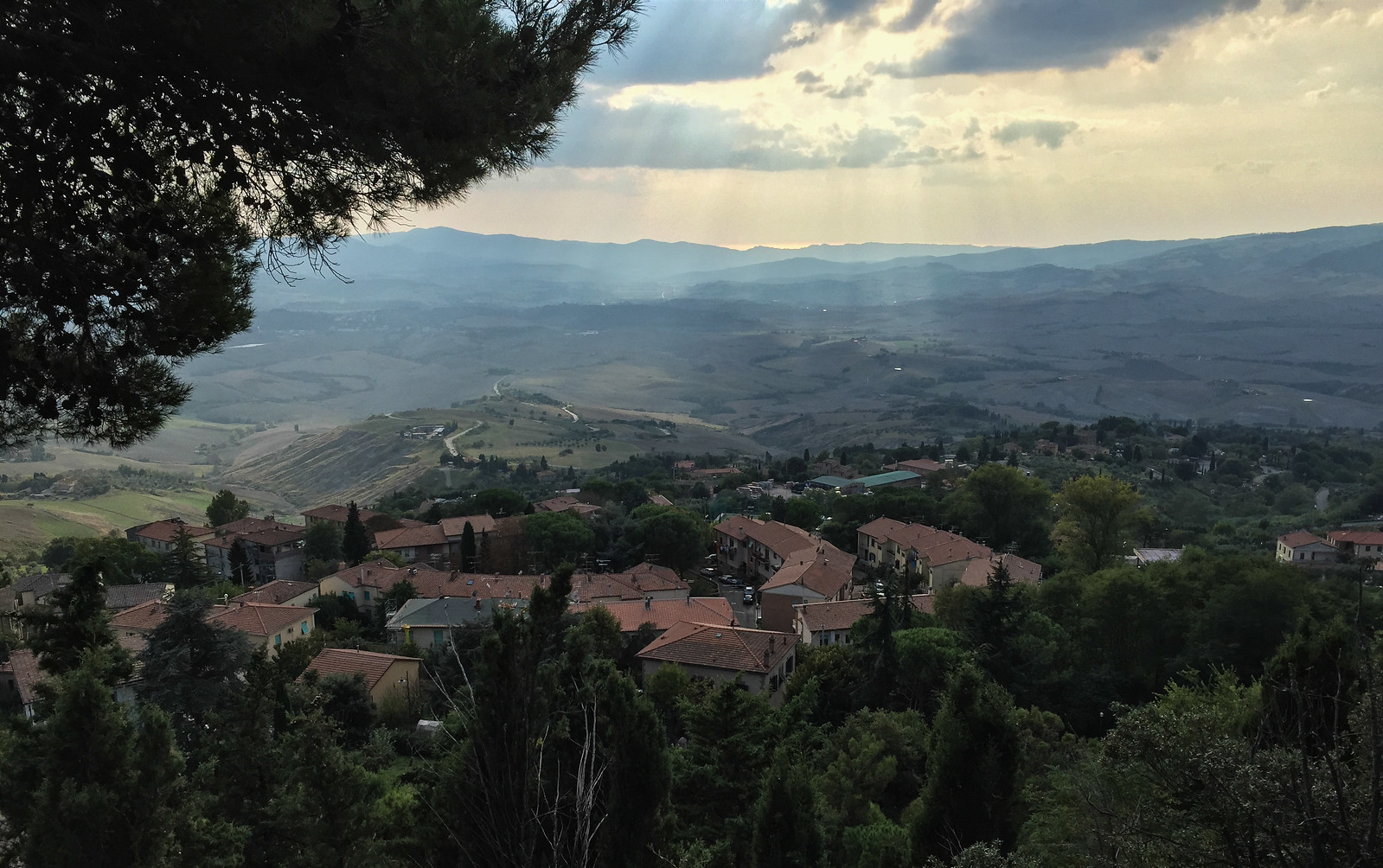 view from Volterra city wall