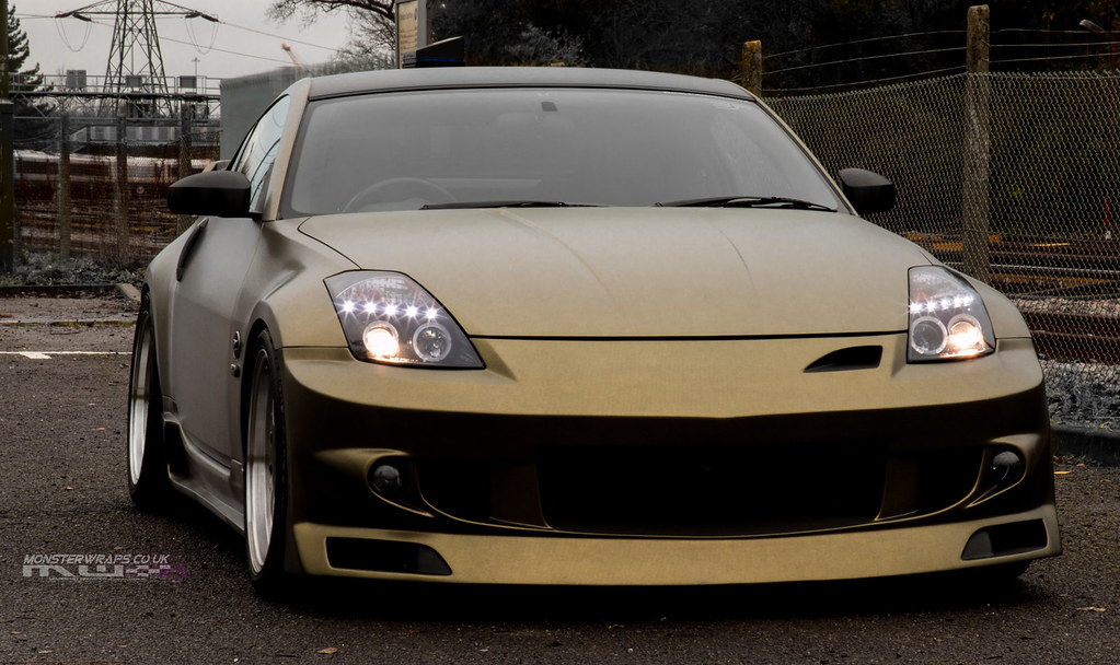 Nissan 350z Brushed Gold Wrap Brushed Gold And Black