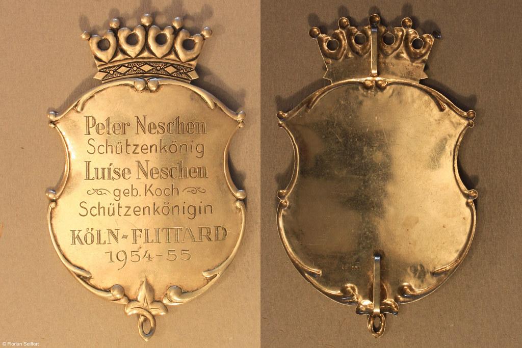 Koenigsschild Flittard von neschen peter aus dem Jahr 1954