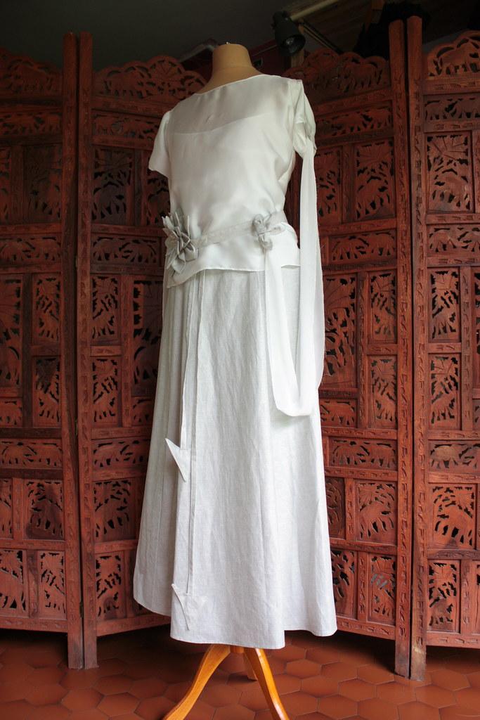 Robe de mariée deux pièces, modèle Eva