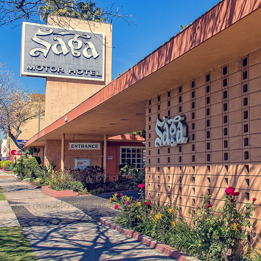 The Saga Motor Hotel Pasadena Ca On Colorado Which