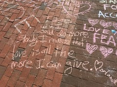 Chalking Our Pride & Sorrow & Strength & Love (Orlando): I always wish I could to more. Slowly I realize that love is all the more I can give.