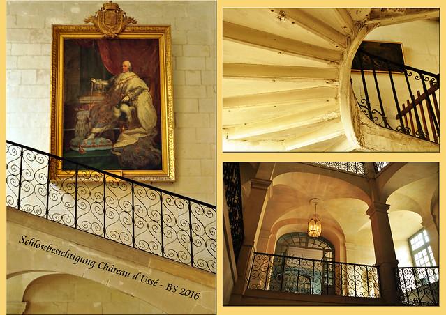 Schlösser der Loire. Das Château d'Ussé ist in drei Bauperioden entstanden. Entsprechend auch die Vielfältigkeit der Innenräume, des Mobiliars, der Kunstsammlungen, Tapisserien und Moden. Wachsfiguren beleben die Räume und zeigen Szenen aus dem damaligen Leben. Steigt man weiter nach oben, in Turm, Dachboden, Speicher ... dort, wo sich die Prinzessin Aurore mit der Spindel gestochen hat ... begegnet man nur noch wenigen Besuchern. Es befinden sich dort interessante Gegenstände zwischen Staub und Spinnweben. Und hinter einer alten Holztür kann man, wenn man ganz leise und vorsichtig ist, eine Vogelmutter beim Brüten und Füttern beobachten! Foto: Brigitte Stolle 2016