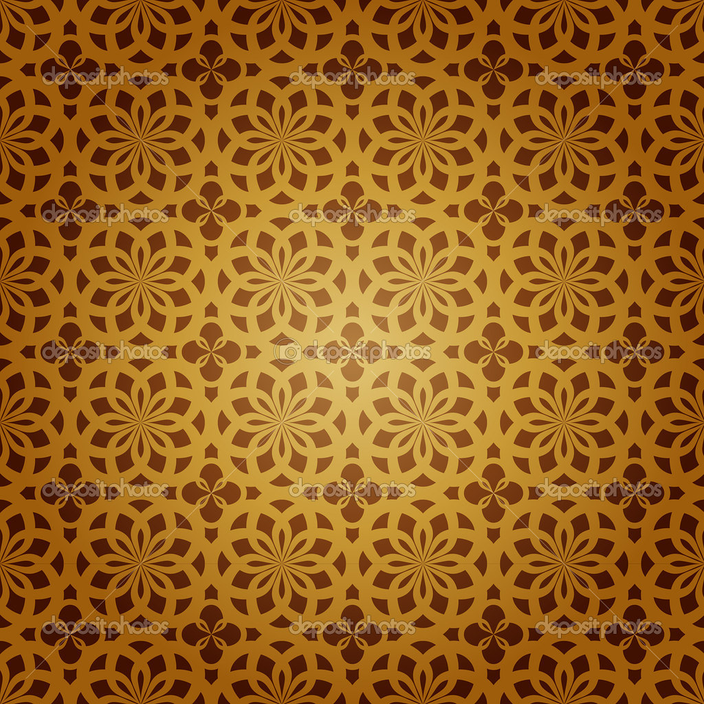 Seamless geometric islamic art pattern abstract vector Painting geometric patterns on walls