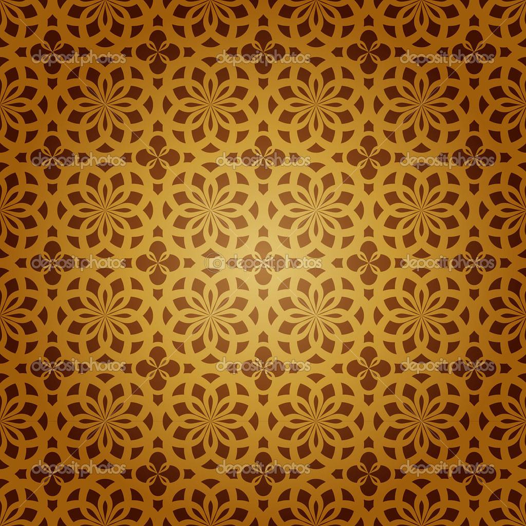 Seamless geometric islamic art pattern abstract vector Painting geometric patterns on walls