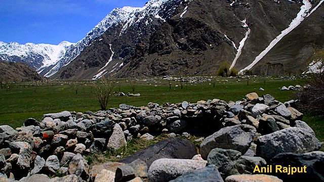 Bheem Beda, Drass Valley, Karakoram range backdrop, Kargil