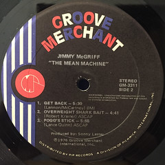 JIMMY McGRIFF:THE MEAN MACHINE(LABEL SIDE-B)