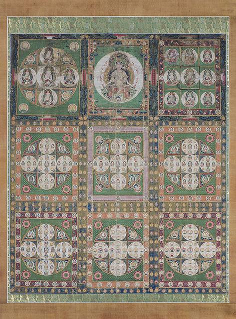 《両界曼荼羅》|鎌倉時代(14世紀)|双幅、絹本着色|各235.5×197.2 cm|所蔵:三室都寺、京都_1