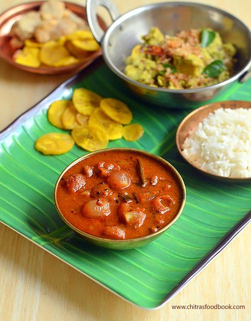 Ulli theeyal recipe Kerala