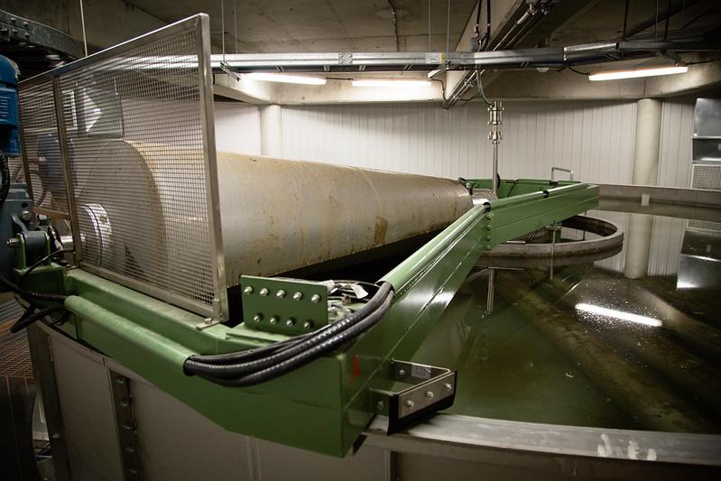 Installations de l'usine d'épuration des eaux usées Achille-Gagnon, à Victoriaville