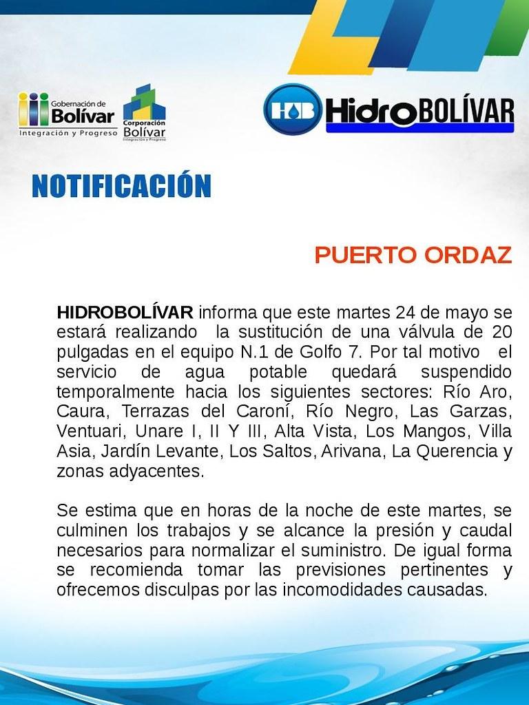 Mañana martes se suspenderá el servicio de Agua Potable a varios sectores de la Ciudad