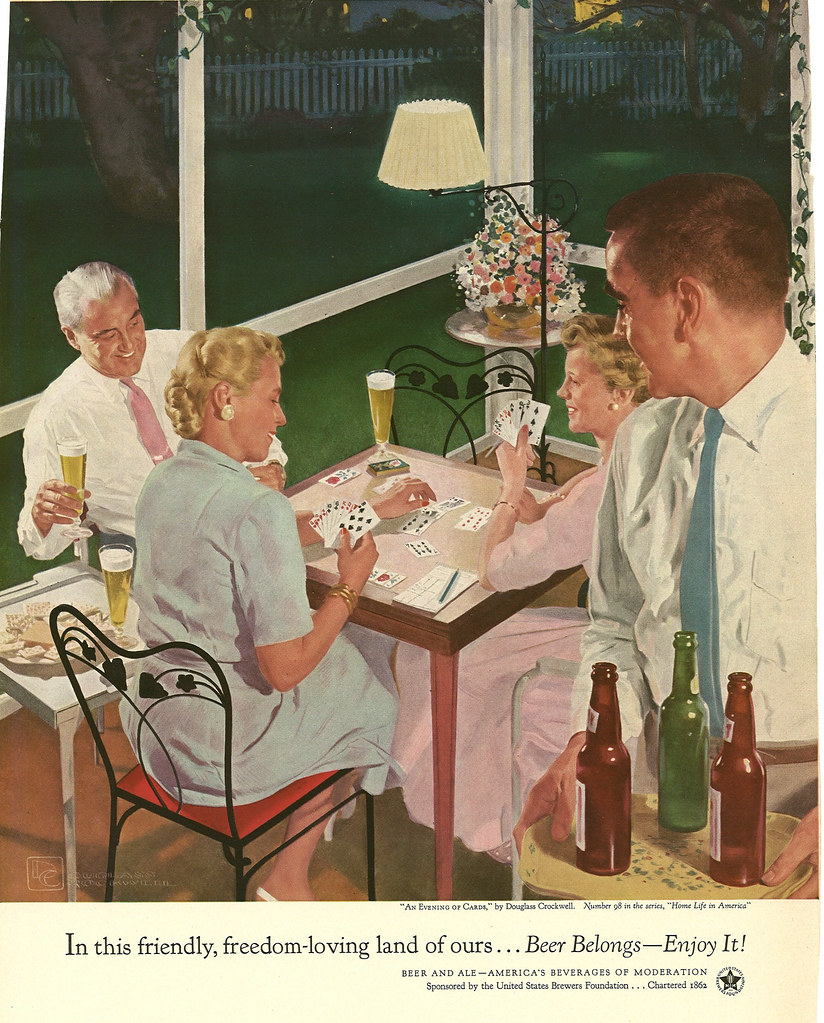 098. An Evening of Cards by Douglass Crockwell, 1954