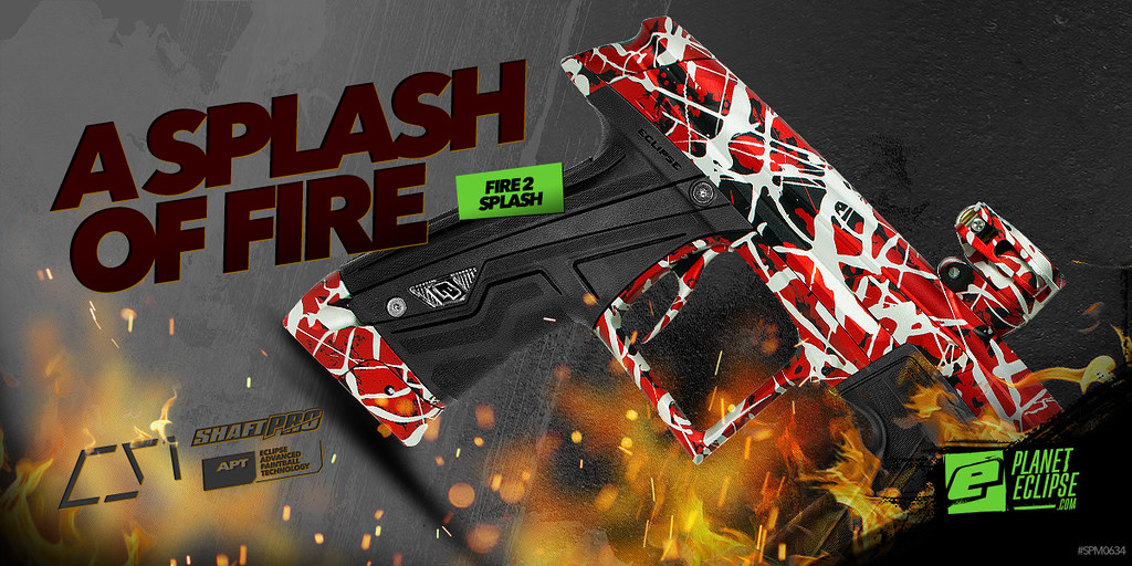 Geo CS1 Paintball Marker in Fire 2 Splash
