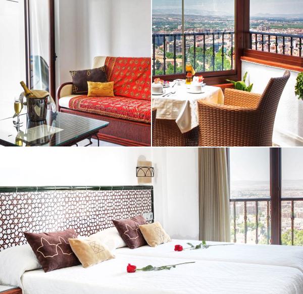 Mirador Arabeluj y sus habitaciones con vistas a Granada