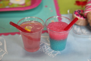 Pink lemonade and slushie