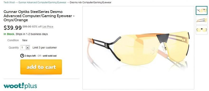 Gunnar Optiks SteelSeries Desmo radiation resistant glasses. 99