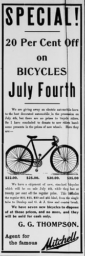July 4th Bike Sale 1913