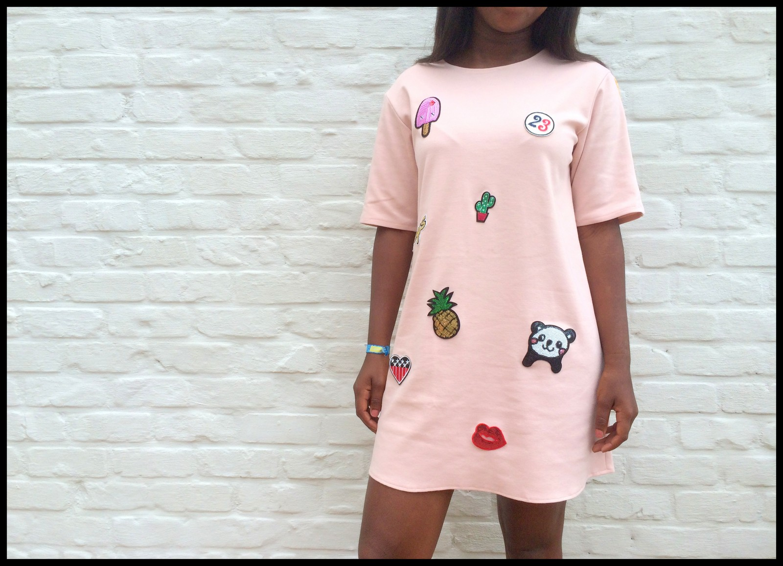 patch dress 1