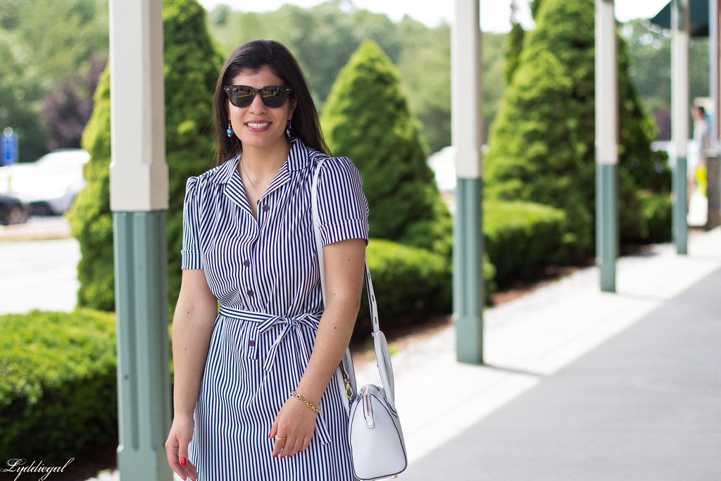 striped shirt dress, blue sandals, white bag-9.jpg
