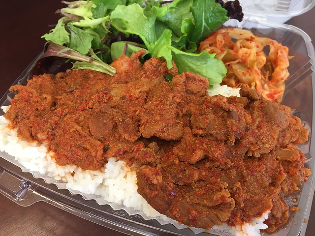 Spicy pork - The Store on the Corner