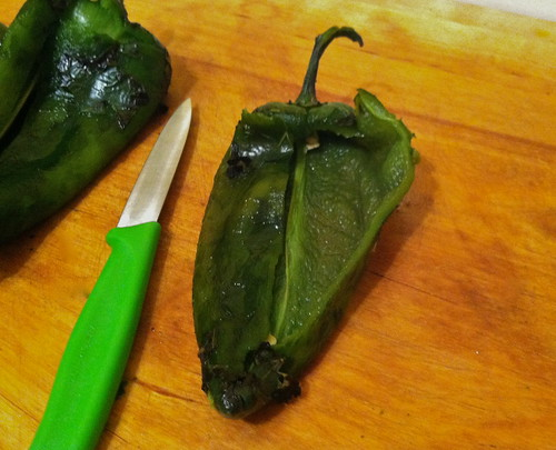 Fire Roasted Poblano Chiles en Nogada