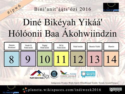 Diné Bikéyah Yikáá' Hólóonii Baa Ákohwiindzin (Indigenous Peoples Week, Aug 8-14) #ipw6 #DinéBizaad @NavajoWeb @nihizaad @NavajoToursUSA