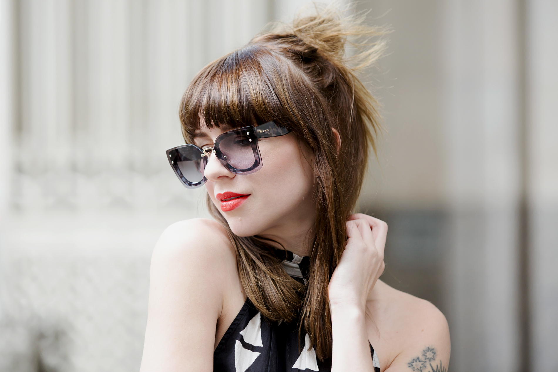 h&m maxi dress miu miu sunglasses chanel 2.55 double flap bag sacha heels ootd outfit styling fashionblogger modeblogger germany ricarda schernus cats & dogs styleblog 2