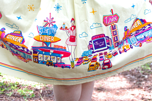 diner print skirt
