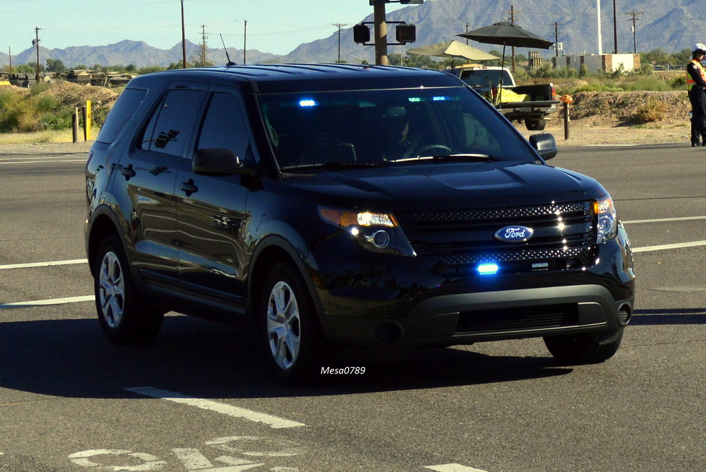 Gilbert Arizona Police Ford Interceptor Explorer Suv